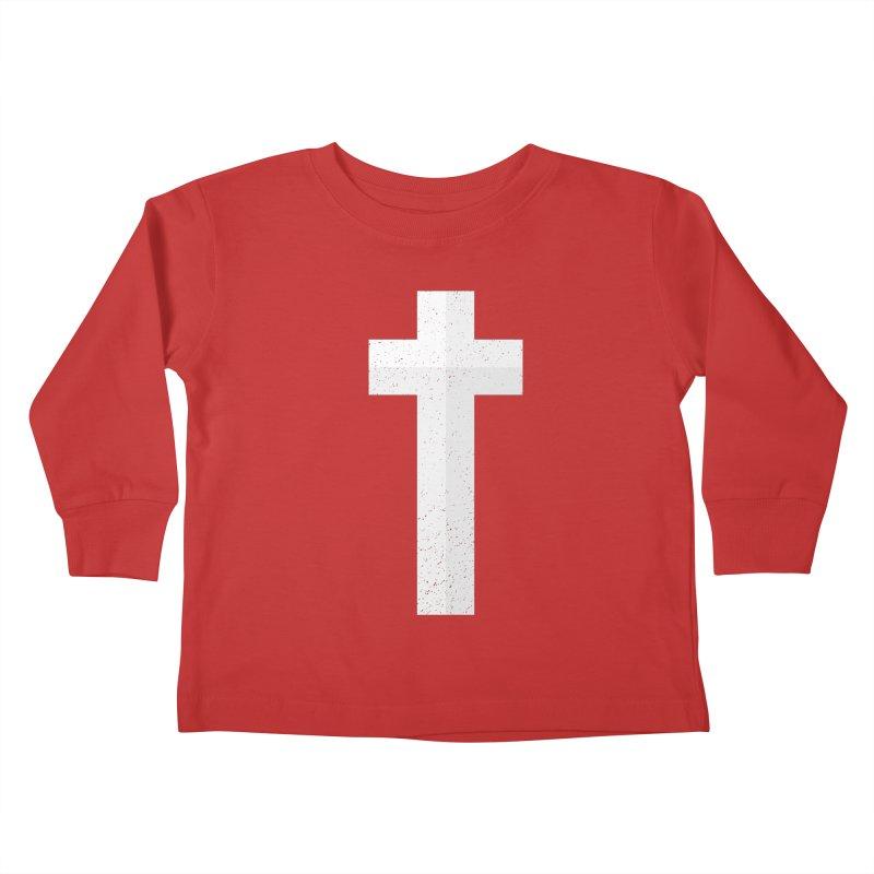 The Cross (white) Kids Toddler Longsleeve T-Shirt by Reformed Christian Goods & Clothing