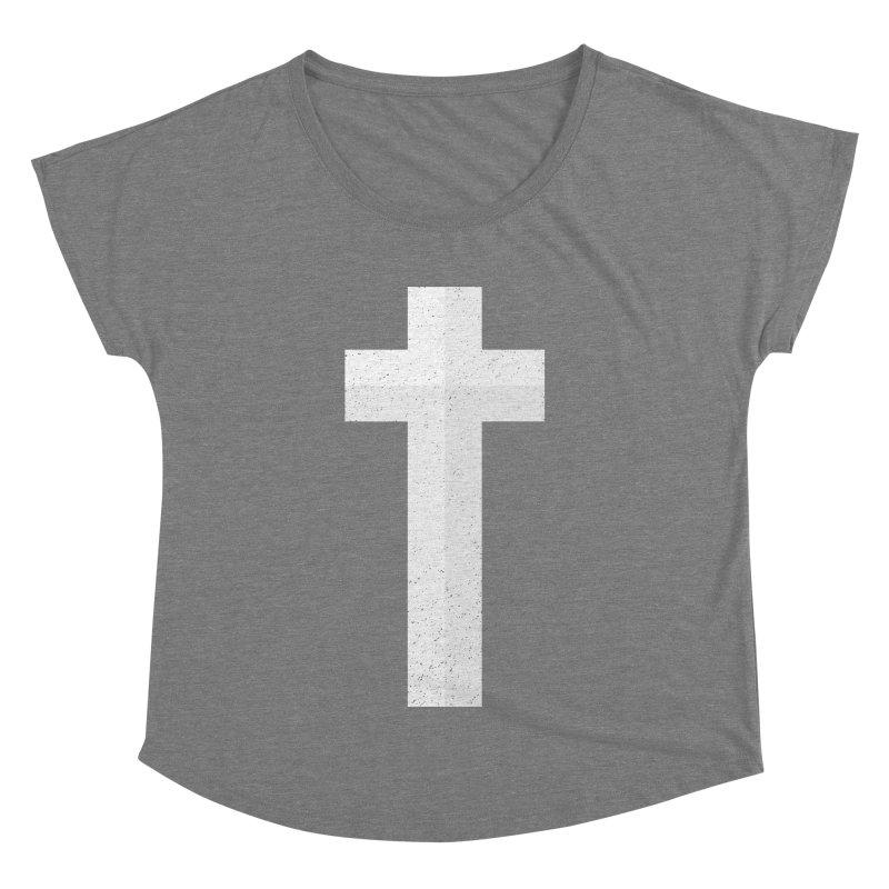 The Cross (white) Women's Dolman by Reformed Christian Goods & Clothing