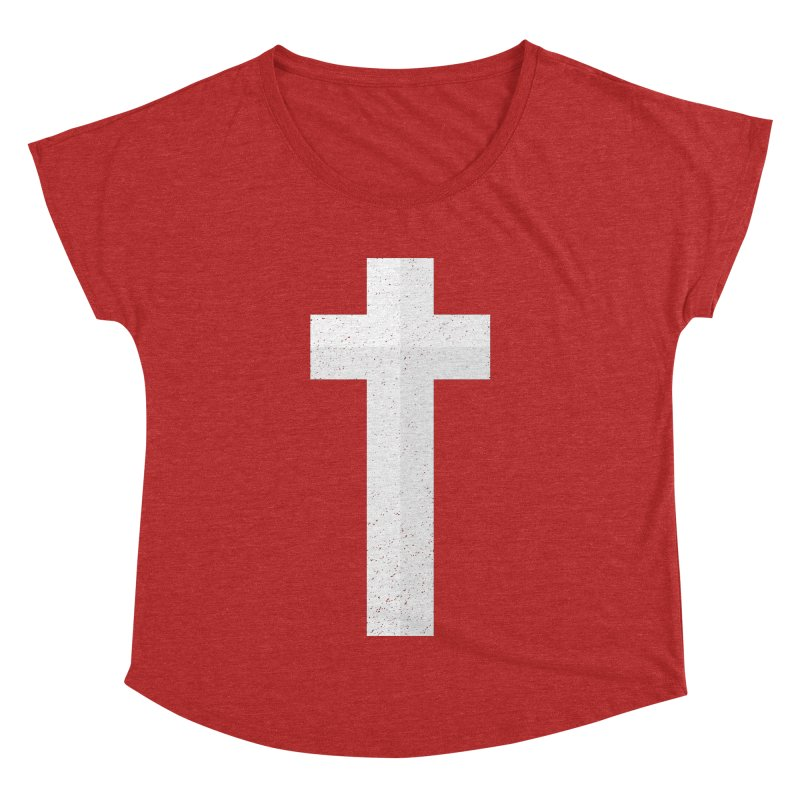 The Cross (white) Women's Dolman by Reformed Christian Goods & Clothing
