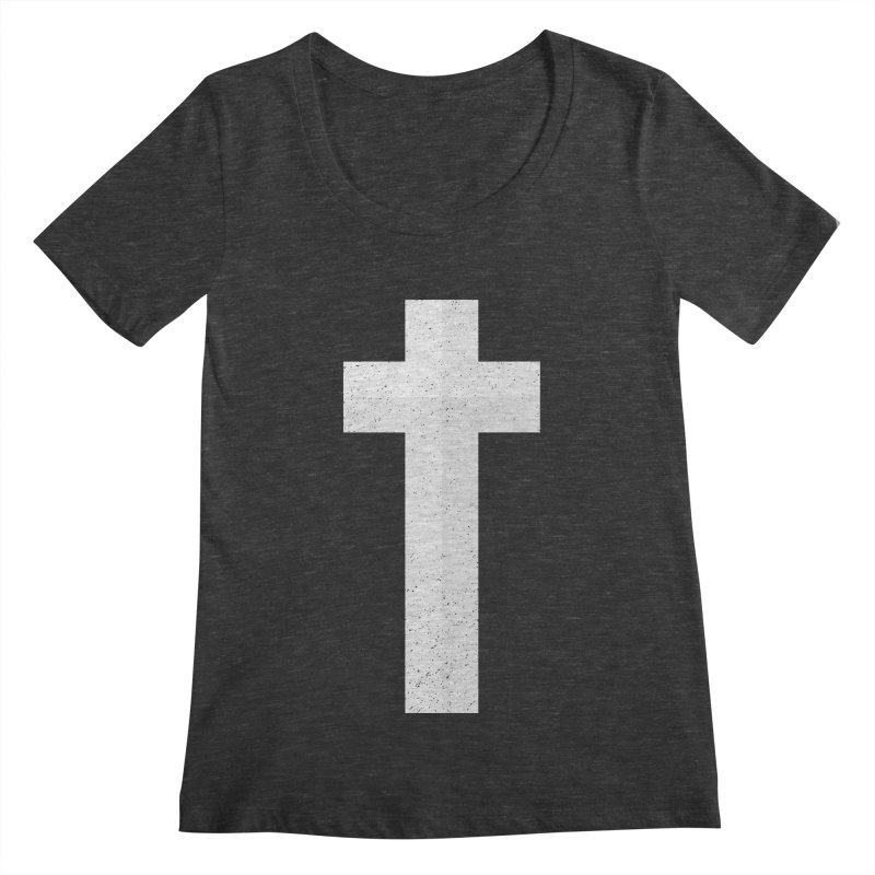 The Cross (white) Women's Scoopneck by Reformed Christian Goods & Clothing