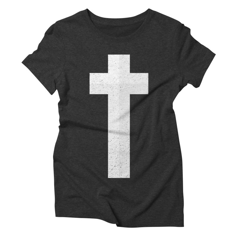 The Cross (white) Women's Triblend T-shirt by Reformed Christian Goods & Clothing