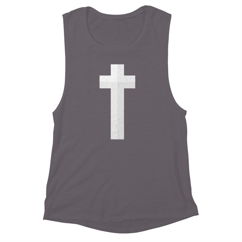 The Cross (white) Women's Muscle Tank by Reformed Christian Goods & Clothing