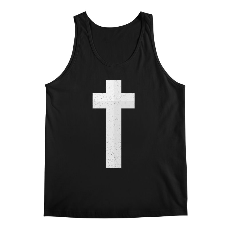 The Cross (white) Men's Tank by Reformed Christian Goods & Clothing