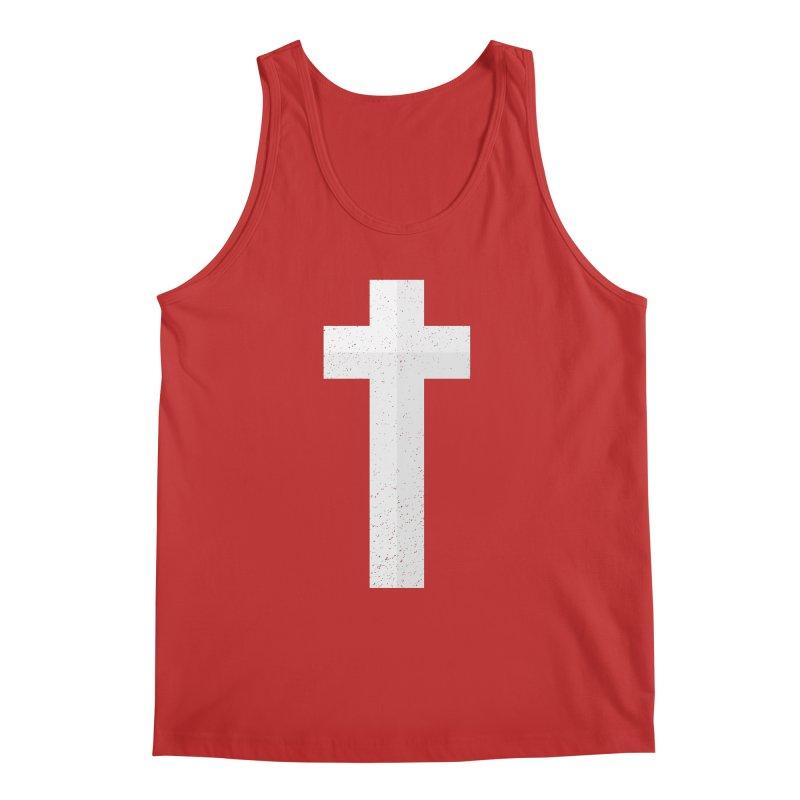 The Cross (white) Men's Tank by Reformed Christian Goods & Clothing