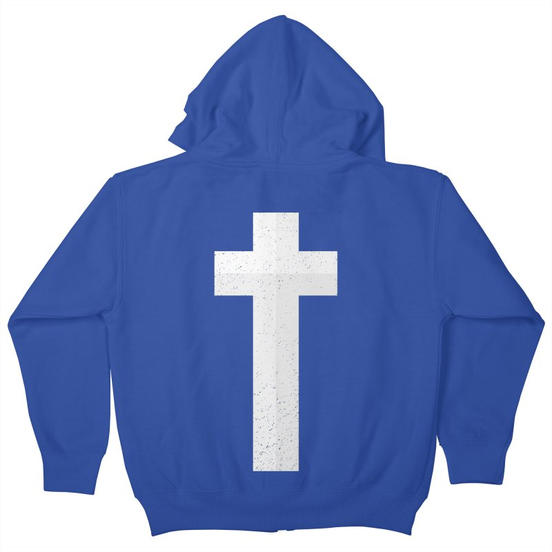 The Cross (white) Kids Zip-Up Hoody by Reformed Christian Goods & Clothing