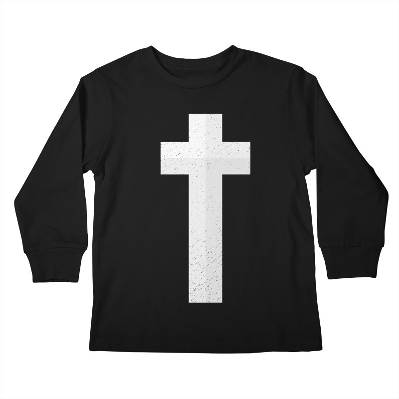 The Cross (white) Kids Longsleeve T-Shirt by Reformed Christian Goods & Clothing