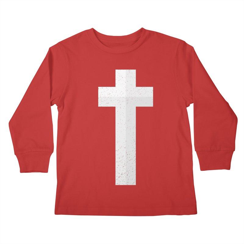 The Cross (white) Kids Longsleeve T-Shirt by Reformed Christian Goods & Clothing