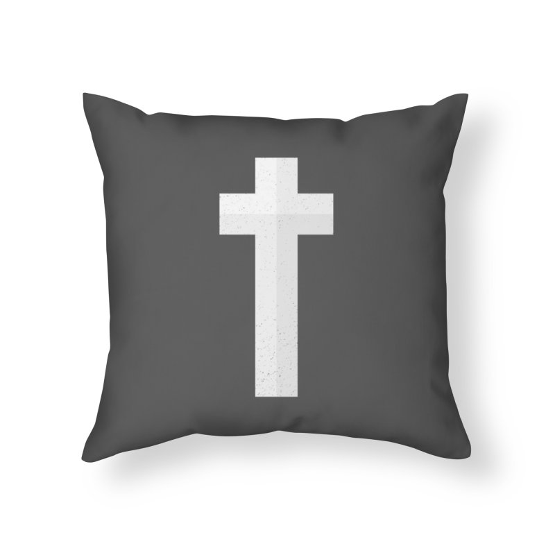 The Cross (white) Home Throw Pillow by Reformed Christian Goods & Clothing