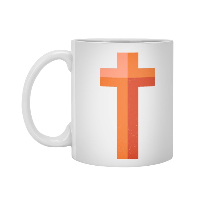 The Cross (red) Accessories Mug by Reformed Christian Goods & Clothing