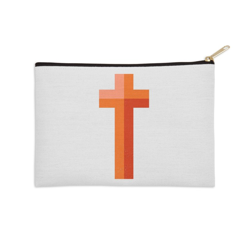 The Cross (red) Accessories Zip Pouch by Reformed Christian Goods & Clothing