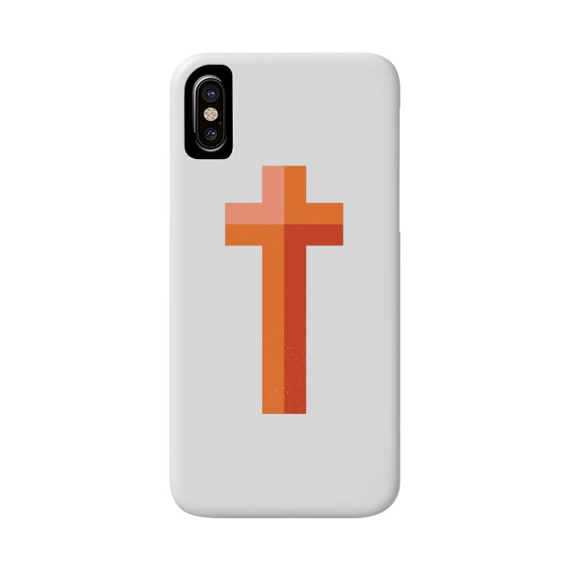 The Cross (red) Accessories Phone Case by Reformed Christian Goods & Clothing