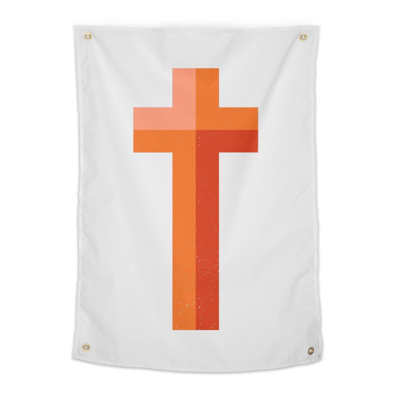 The Cross (red) Home Tapestry by Reformed Christian Goods & Clothing
