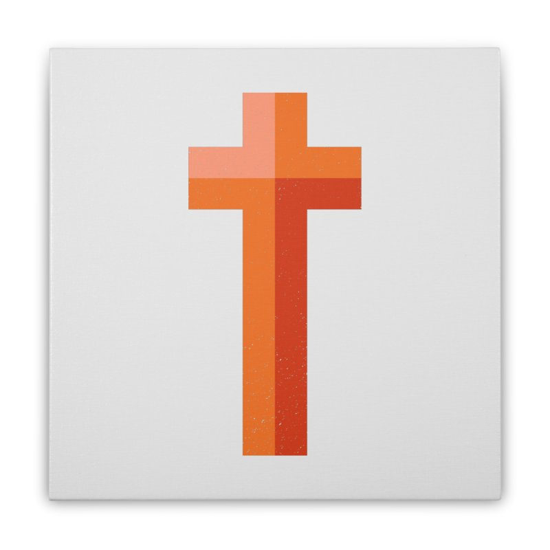 The Cross (red) Home Stretched Canvas by Reformed Christian Goods & Clothing