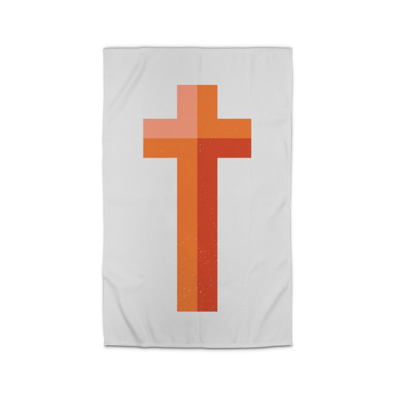 The Cross (red) Home Rug by Reformed Christian Goods & Clothing
