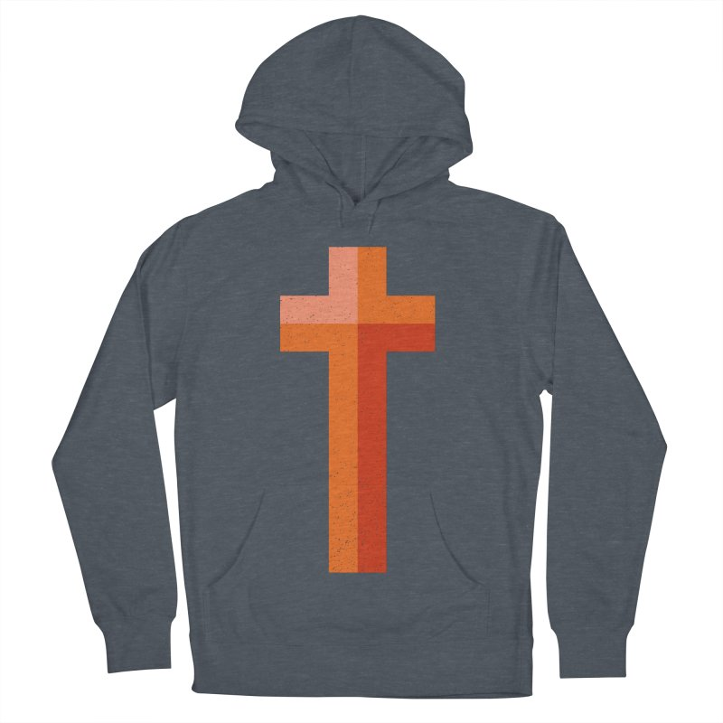 The Cross (red) Women's French Terry Pullover Hoody by Reformed Christian Goods & Clothing