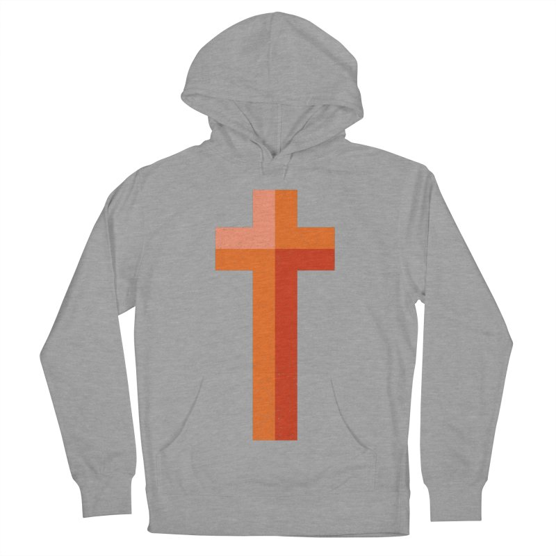 The Cross (red) Men's Pullover Hoody by Reformed Christian Goods & Clothing