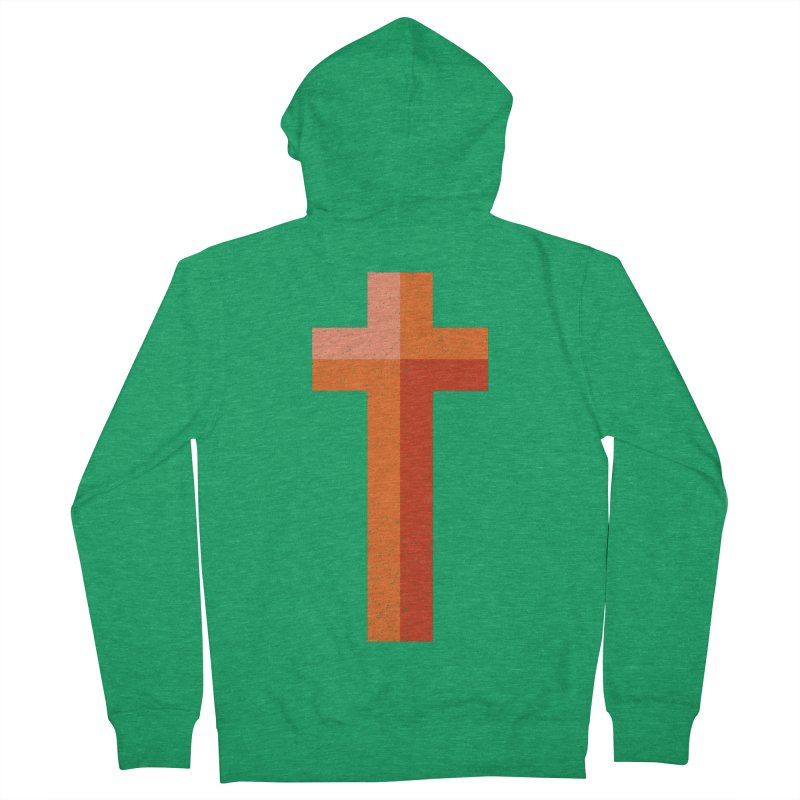 The Cross (red) Women's Zip-Up Hoody by Reformed Christian Goods & Clothing