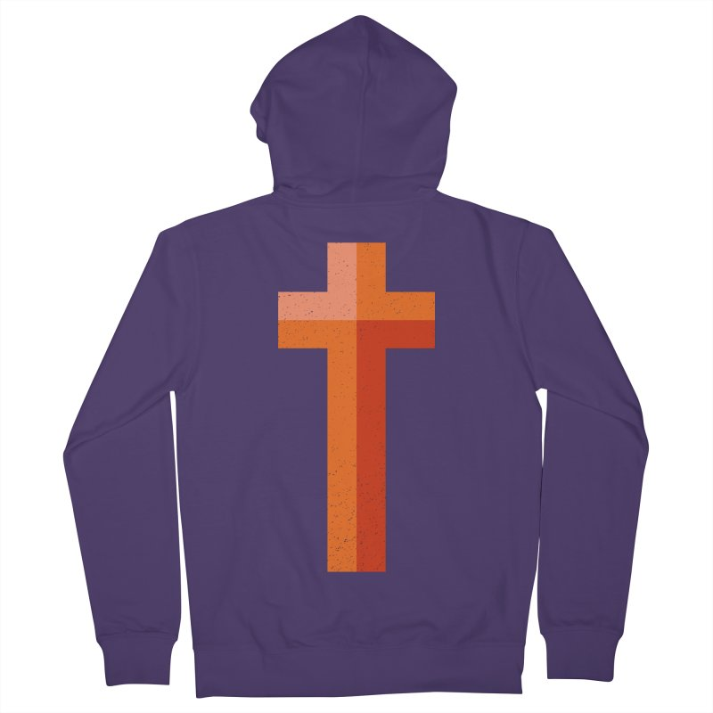 The Cross (red) Women's French Terry Zip-Up Hoody by Reformed Christian Goods & Clothing