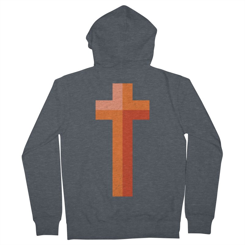 The Cross (red) Men's French Terry Zip-Up Hoody by Reformed Christian Goods & Clothing