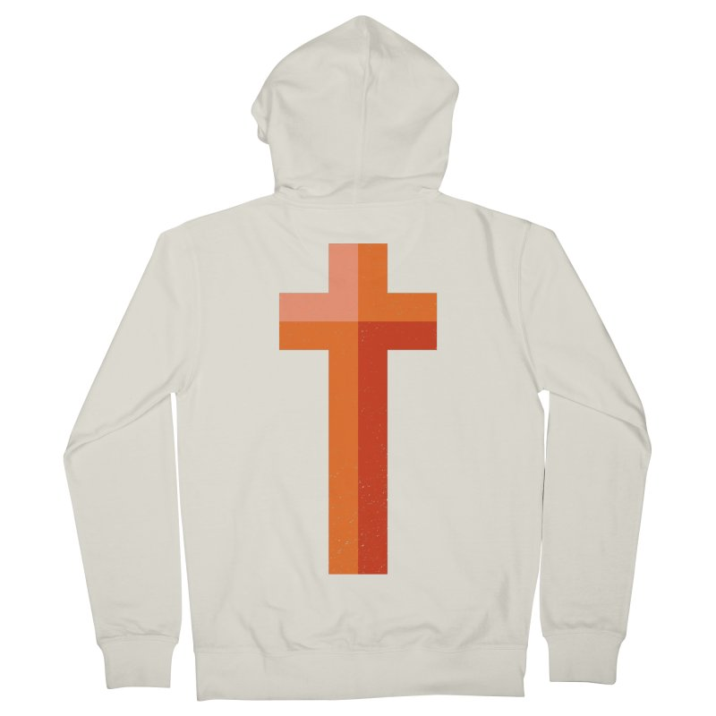 The Cross (red) Men's Zip-Up Hoody by Reformed Christian Goods & Clothing