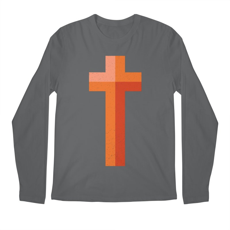 The Cross (red) Men's Regular Longsleeve T-Shirt by Reformed Christian Goods & Clothing