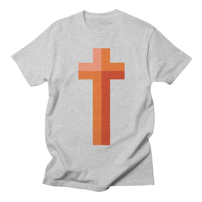 The Cross (red) Men's T-Shirt by Reformed Christian Goods & Clothing