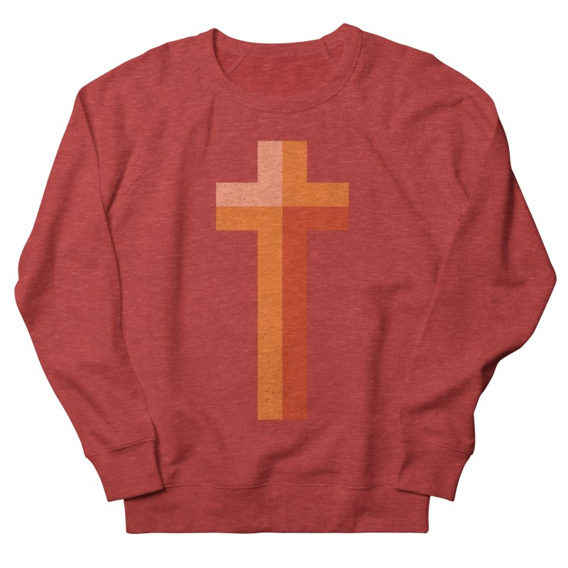 The Cross (red) Women's French Terry Sweatshirt by A Worthy Manner Goods & Clothing
