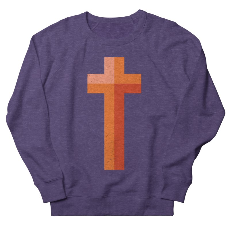 The Cross (red) Men's Sweatshirt by Reformed Christian Goods & Clothing