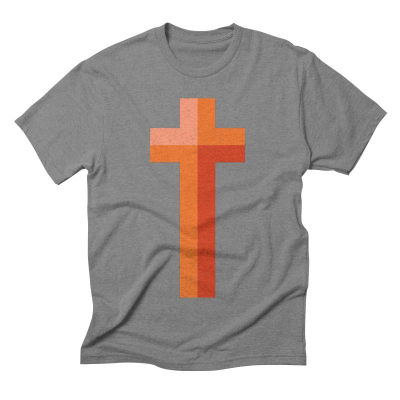 The Cross (red) Men's Triblend T-shirt by Reformed Christian Goods & Clothing