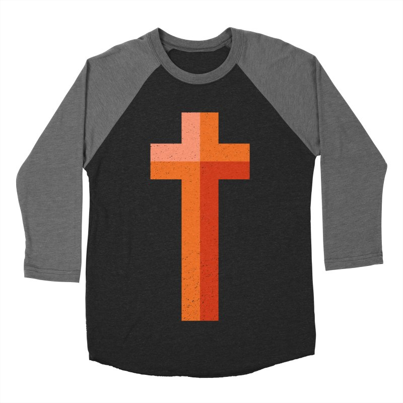 The Cross (red) Men's Baseball Triblend T-Shirt by Reformed Christian Goods & Clothing