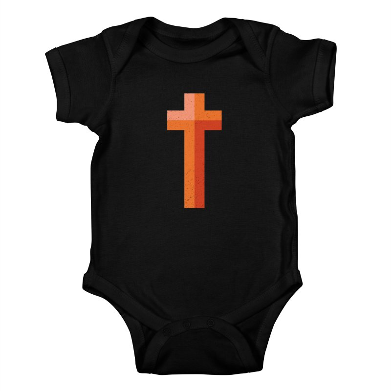 The Cross (red) Kids Baby Bodysuit by Reformed Christian Goods & Clothing