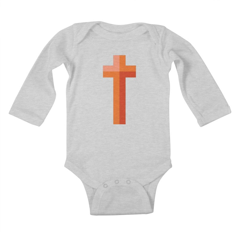 The Cross (red) Kids Baby Longsleeve Bodysuit by Reformed Christian Goods & Clothing