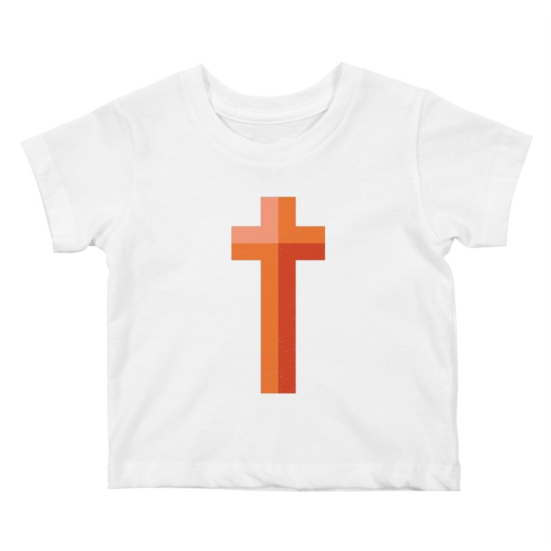 The Cross (red) Kids Baby T-Shirt by Reformed Christian Goods & Clothing