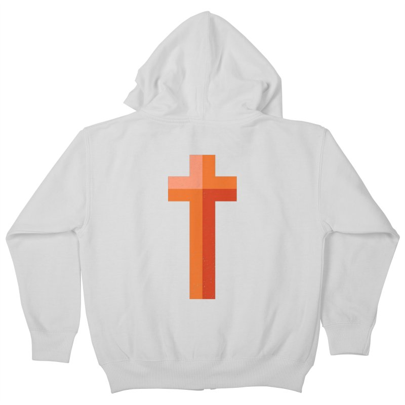 The Cross (red) Kids Zip-Up Hoody by Reformed Christian Goods & Clothing