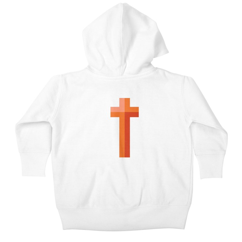 The Cross (red) Kids Baby Zip-Up Hoody by Reformed Christian Goods & Clothing