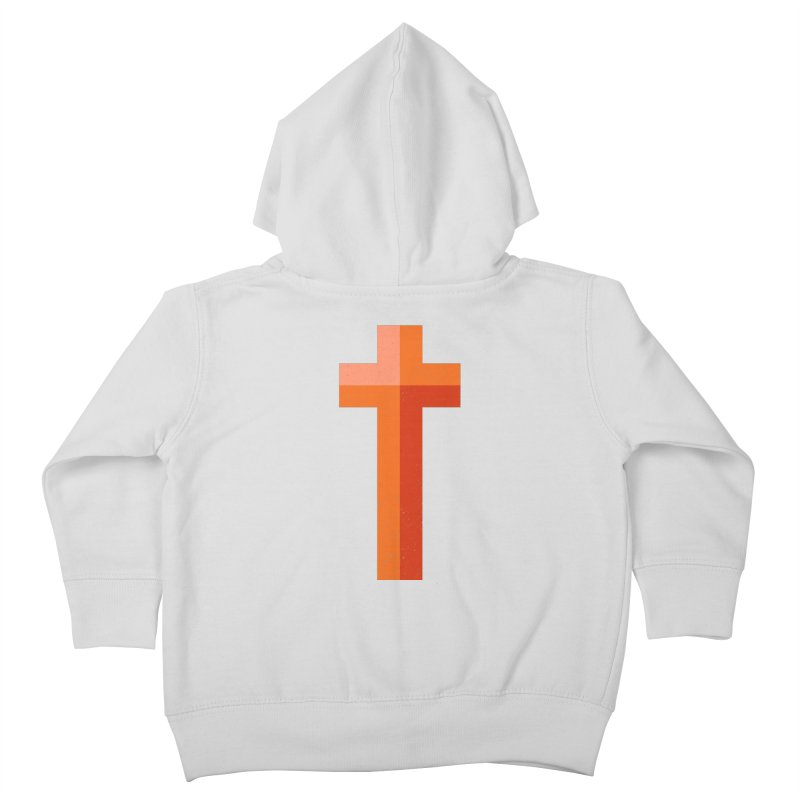 The Cross (red) Kids Toddler Zip-Up Hoody by Reformed Christian Goods & Clothing