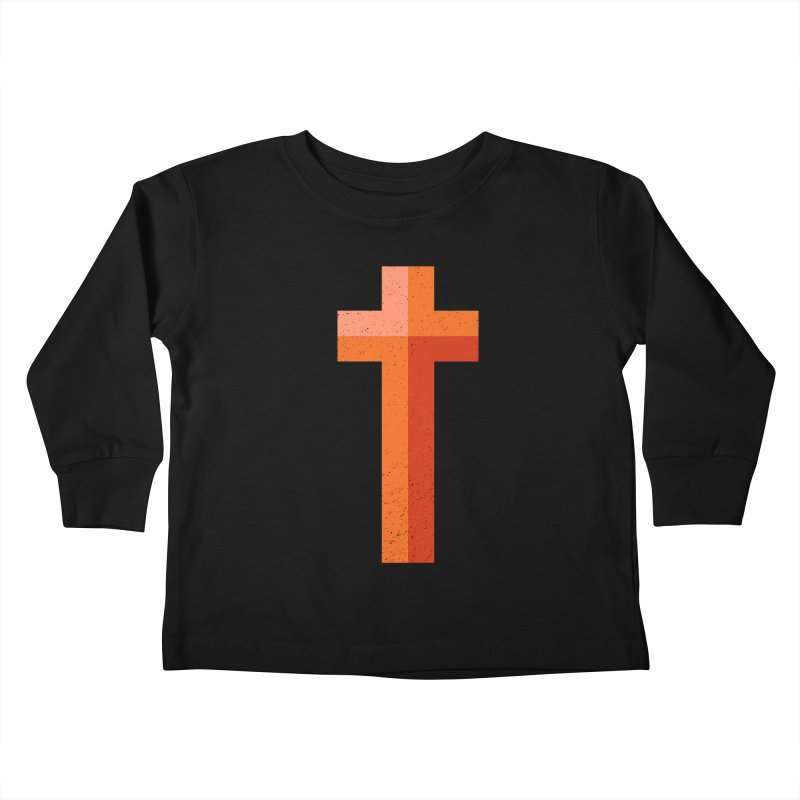 The Cross (red) Kids Toddler Longsleeve T-Shirt by Reformed Christian Goods & Clothing