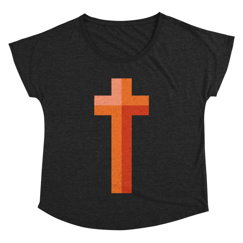The Cross (red) Women's Dolman by Reformed Christian Goods & Clothing