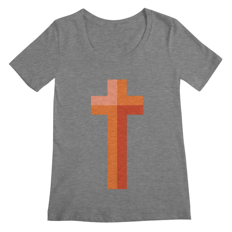 The Cross (red) Women's Scoopneck by Reformed Christian Goods & Clothing