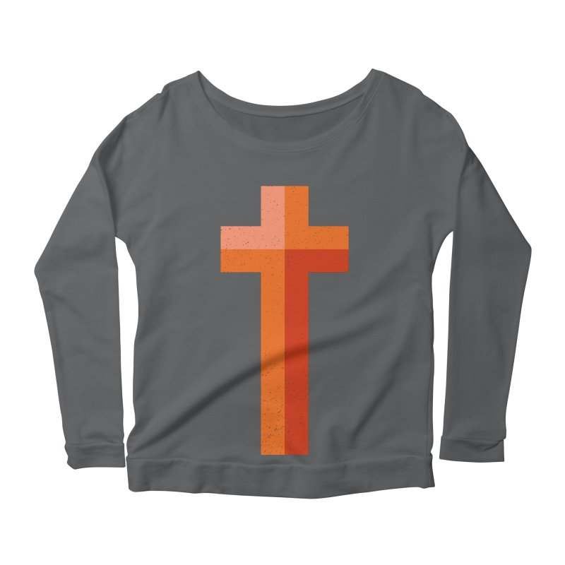 The Cross (red) Women's Scoop Neck Longsleeve T-Shirt by Reformed Christian Goods & Clothing