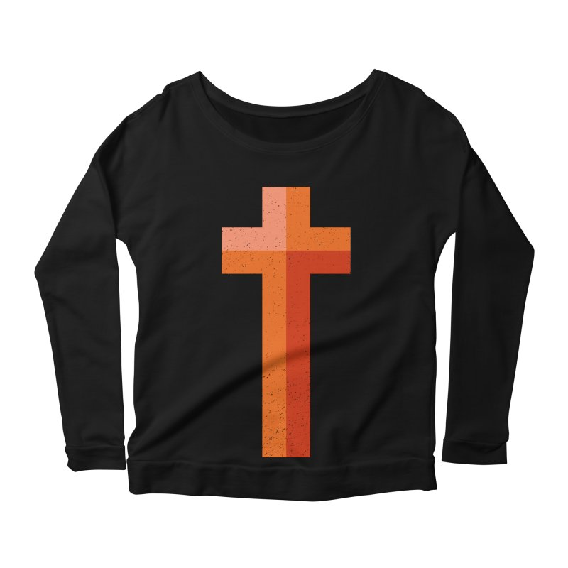 The Cross (red) Women's Longsleeve Scoopneck  by Reformed Christian Goods & Clothing