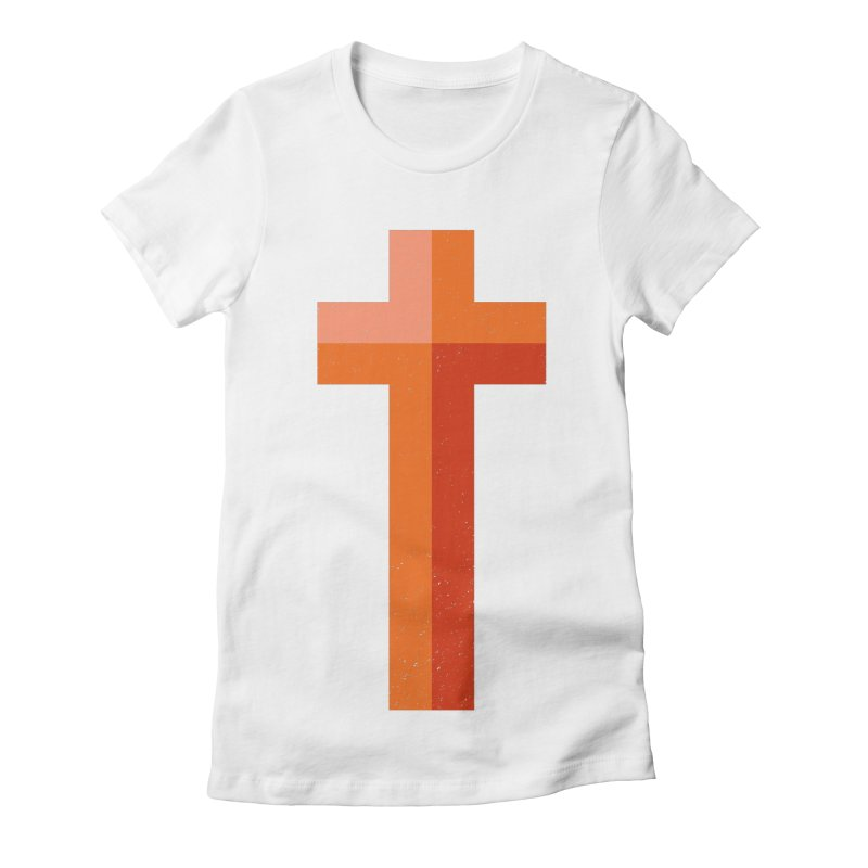 The Cross (red) Women's Fitted T-Shirt by Reformed Christian Goods & Clothing