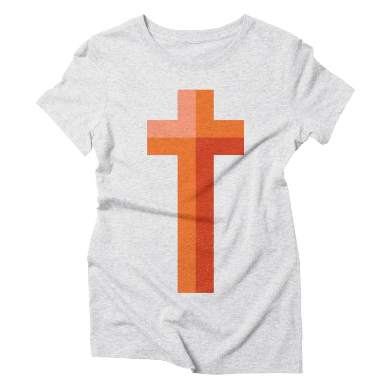 The Cross (red) Women's Triblend T-shirt by Reformed Christian Goods & Clothing