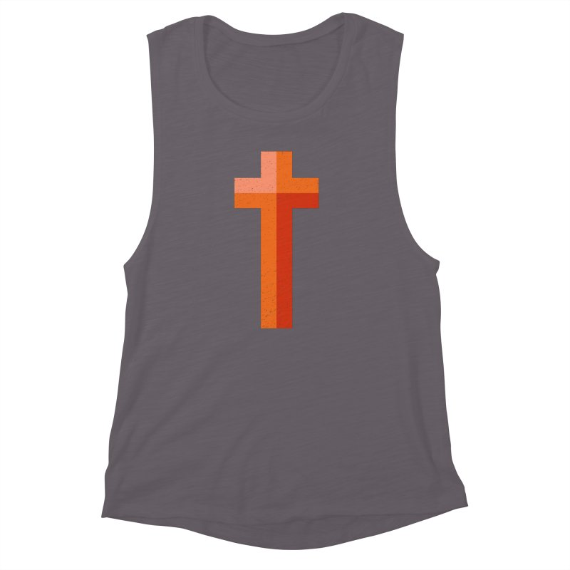 The Cross (red) Women's Muscle Tank by Reformed Christian Goods & Clothing