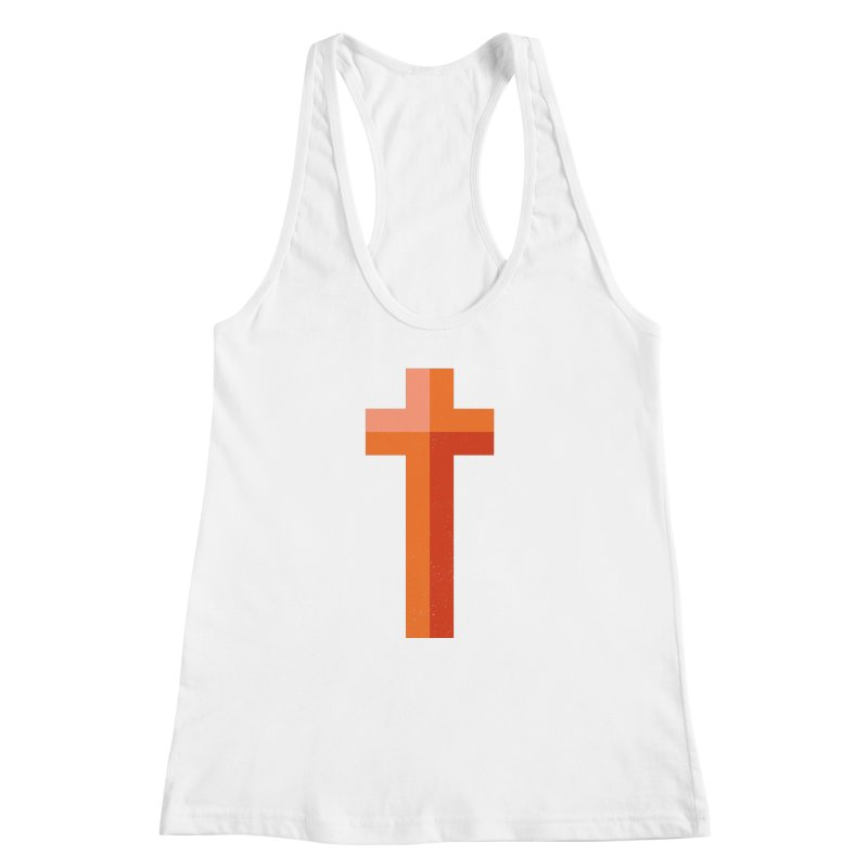 The Cross (red) Women's Racerback Tank by Reformed Christian Goods & Clothing
