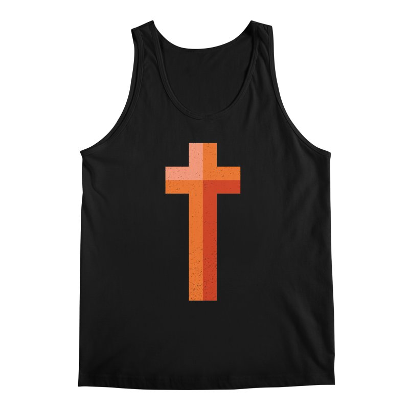 The Cross (red) Men's Tank by Reformed Christian Goods & Clothing