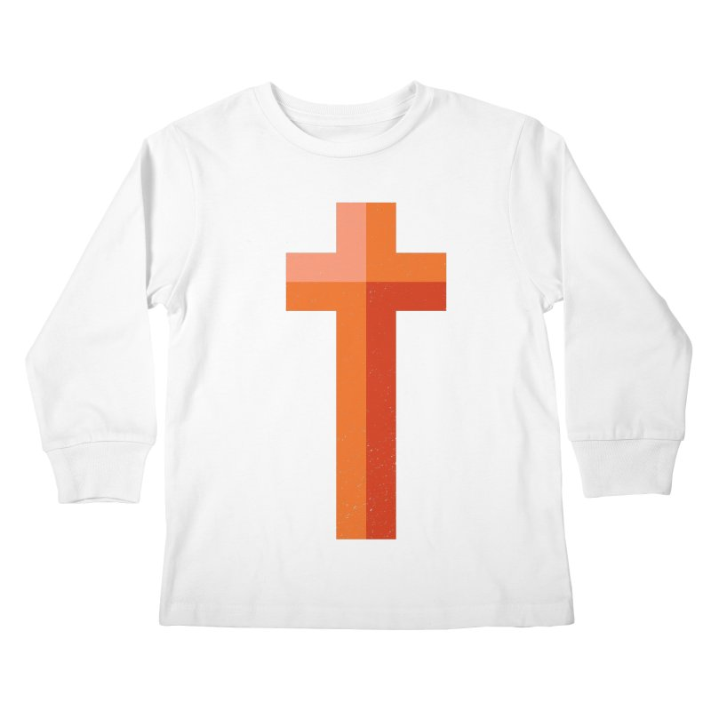 The Cross (red) Kids Longsleeve T-Shirt by Reformed Christian Goods & Clothing