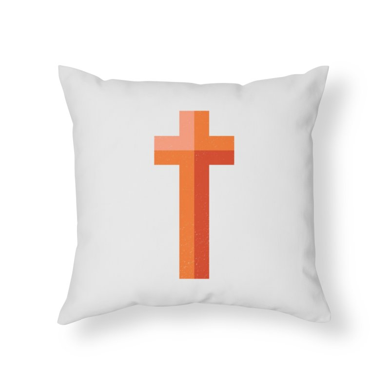 The Cross (red) Home Throw Pillow by Reformed Christian Goods & Clothing