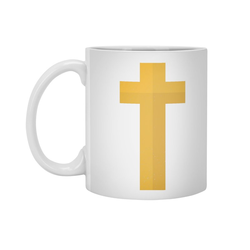 The Cross (gold) Accessories Mug by Reformed Christian Goods & Clothing