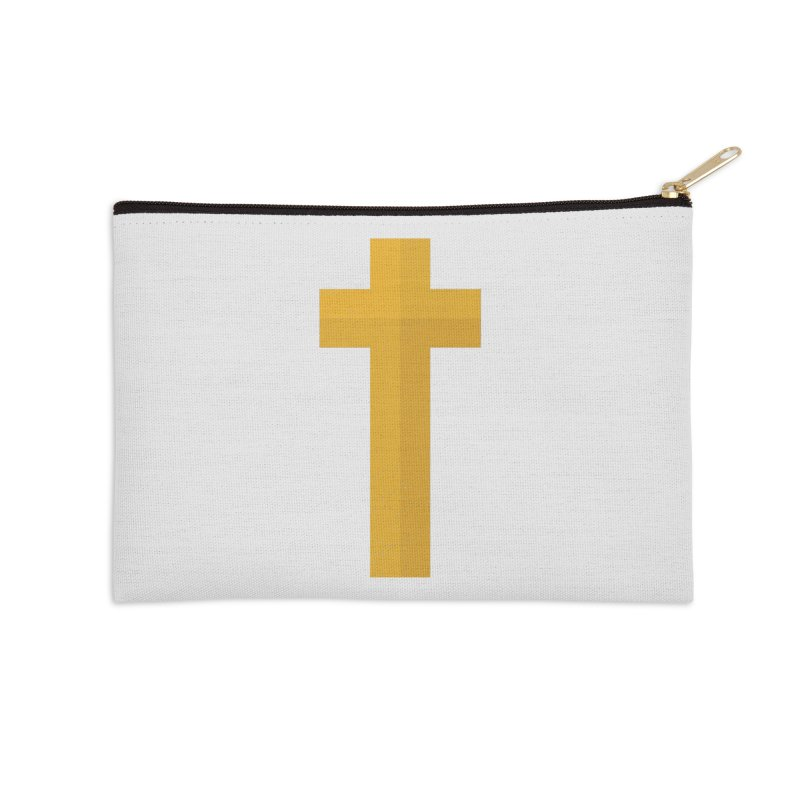 The Cross (gold) Accessories Zip Pouch by Reformed Christian Goods & Clothing